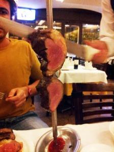 mr.Vap impaziente durante il taglio del filetto