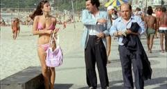Andrea Bergonzoni ed Oronzo Canà a Copacabana nel '84