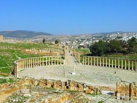 La stupefacente città romana Jerash
